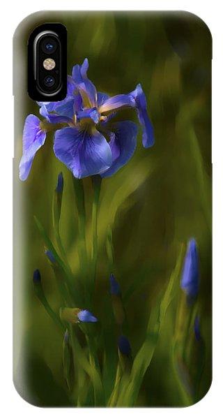 Painted Alaskan Wild Irises IPhone Case