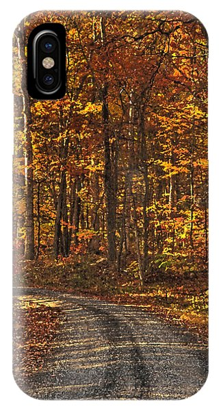 Painted Autumn Country Roads IPhone Case