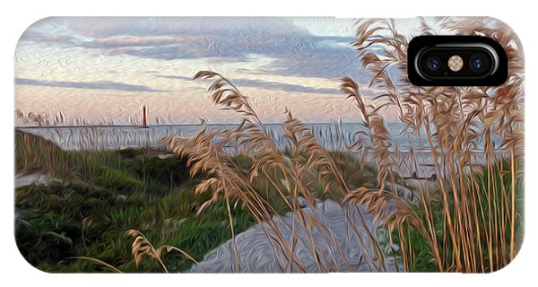 Painted Folly Beach IPhone Case