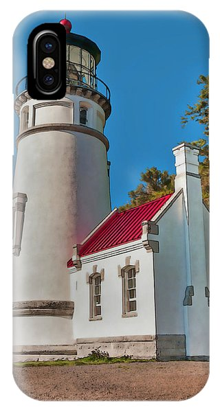 Painted Heceta Head Lighthouse IPhone Case