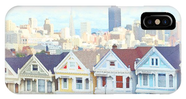 Painted Ladies Alamo Square San Francisco IPhone Case