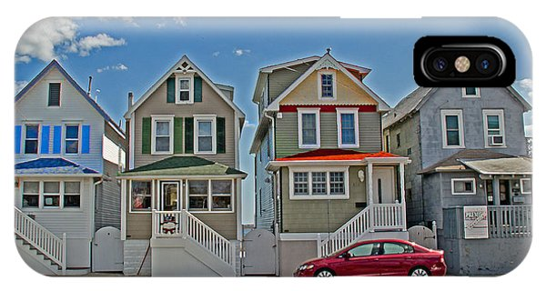 Somerset County iPhone Case - Painted Ladies Of Somers Point by Tom Gari Gallery-Three-Photography