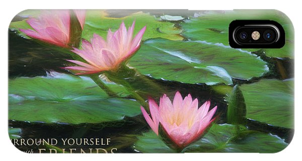 Painted Lilies With Message IPhone Case