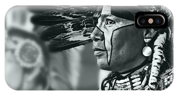 Painted Native In Silver Screen Tone Phone Case by Scarlett Images Photography