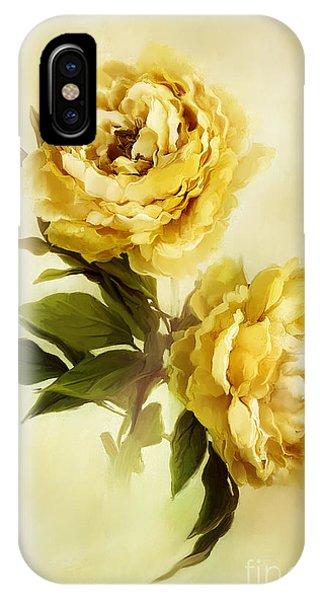 Painted Peonies IPhone Case