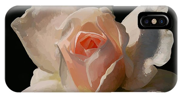 Shrub iPhone Case - Painted Rose by Lois Bryan