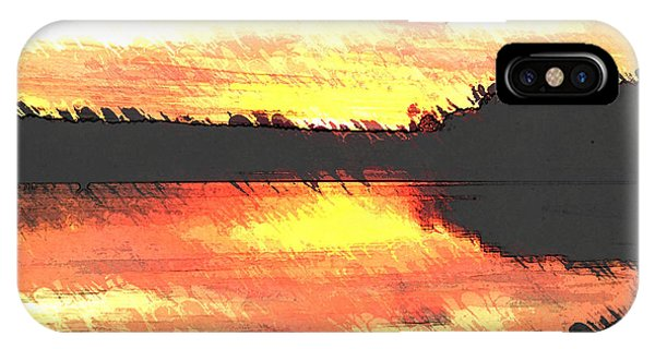 Lake Juliette iPhone Case - Painted Sunset by Donna Brown