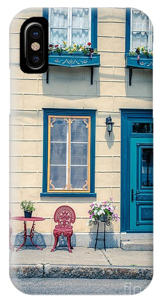 Quebec City iPhone Case - Painted Townhouse In Old Quebec City by Edward Fielding