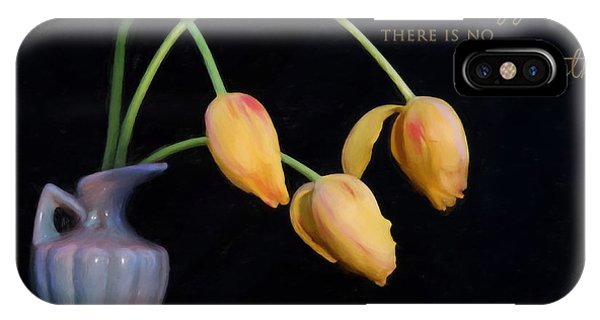 Painted Tulips With Message IPhone Case