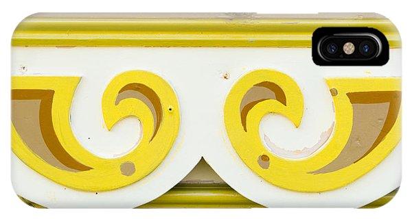 Caravan iPhone Case - Painted Wood Pattern by Tom Gowanlock