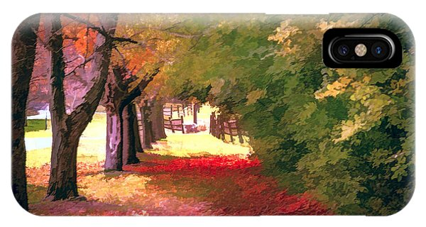 Painterly Forest Trail IPhone Case