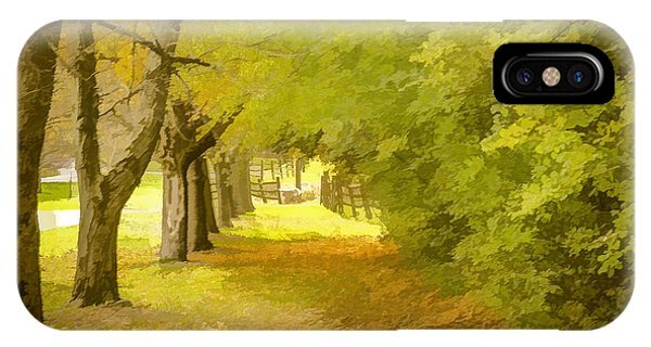 Painterly Pathway IPhone Case