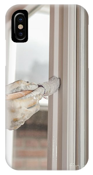 It Professional iPhone Case - Painting A Window With White by Patricia Hofmeester