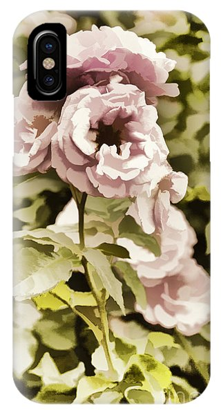 Painting Of A Live Pink Rose Flower In Color 3225.02 IPhone Case