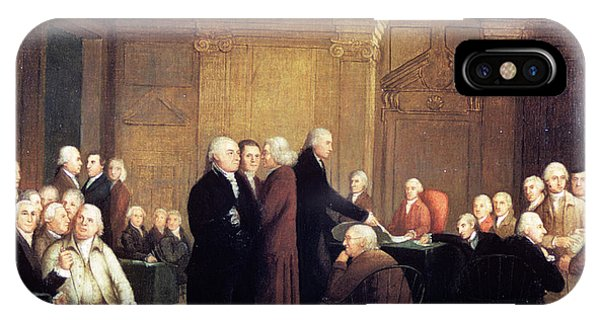 July 4 iPhone Case - Painting Of First Continental Congress by Vintage Images
