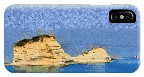 Islet In Peroulades Area IPhone Case