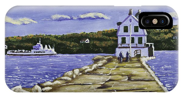 Rockland Breakwater Lighthouse In Maine IPhone Case