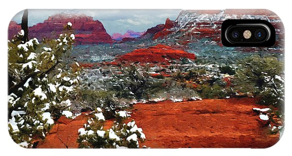 Painting Secret Mountain Wilderness Sedona Arizona IPhone Case