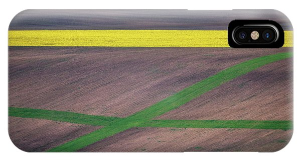 Farmland iPhone Case - Painting The Fields by Ales Krivec