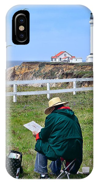IPhone Case featuring the photograph Painting The Point 2 by Jon Exley