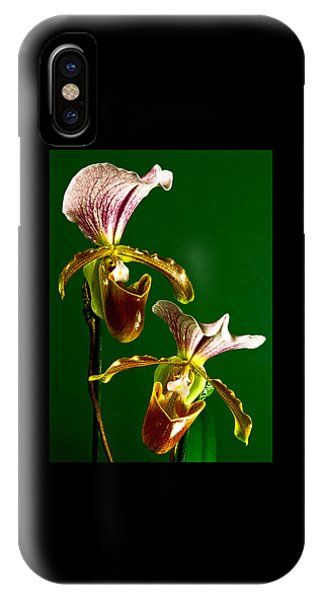 Pair Of Lady Slipper Orchids IPhone Case
