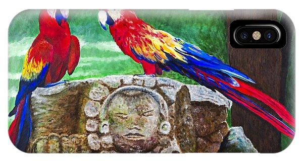 Pair Of Parrots By Barbara Heinrichs Phone Case by Sheldon Kralstein