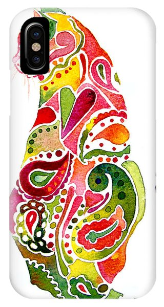 Paisley Cat 2 IPhone Case