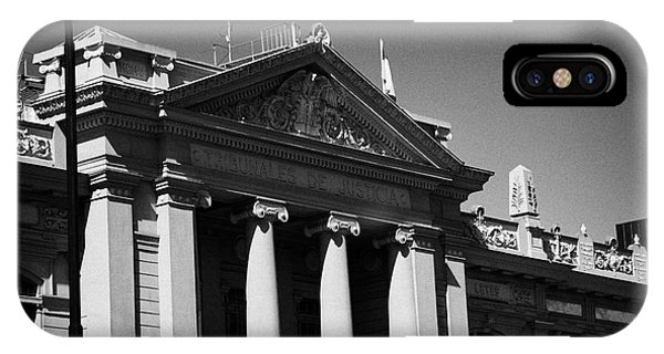 palacio de los tribunales de justica courts of justice palace Santiago Chile Phone Case by Joe Fox