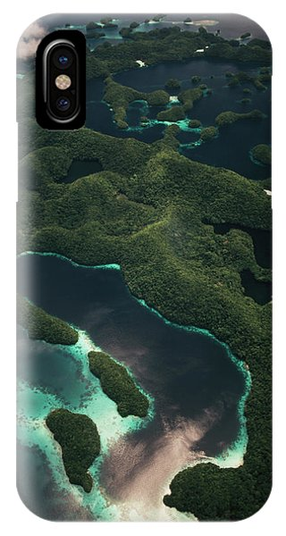 Micronesia iPhone Case - Palau, Micronesia, Aerial View Of Rock by Stuart Westmorland