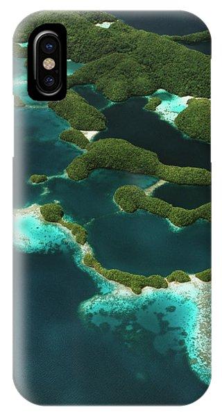 Micronesia iPhone Case - Palau, Micronesia, Rock Islands, Aerial by Stuart Westmorland