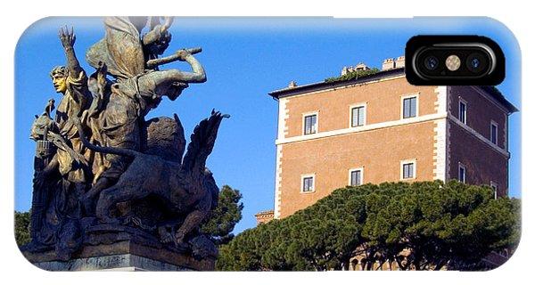 Umbrella Pine iPhone Case - Palazzo Venezia by Tim Holt