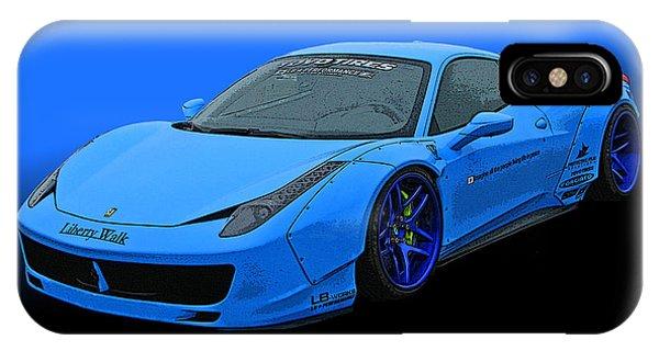 Pale Blue Ferrari 458 Italia IPhone Case