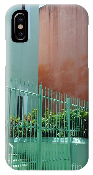 Pale Green With Pink Walls IPhone Case