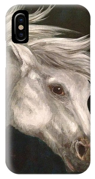 Pale Grey Horse IPhone Case