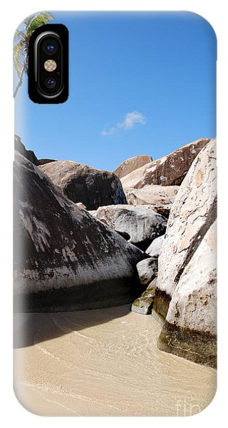 Palm At The Baths Virgin Islands IPhone Case