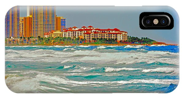 Palm Beach Post Card IPhone Case