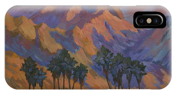 Bear Creek iPhone Case - Palm Oasis At La Quinta Cove by Diane McClary