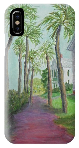 Palm Row In St. Augustine Florida IPhone Case