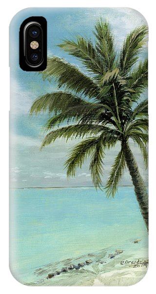 Bahamas iPhone Case - Palm Tree Study by Cecilia Brendel
