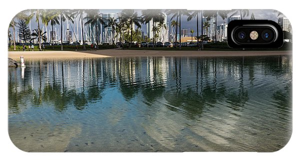 Palm Trees Crystal Clear Lagoon Water And Tropical Fish IPhone Case