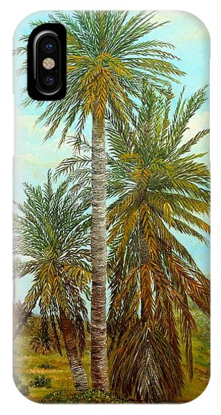 IPhone Case featuring the painting Palm Trees by Angeles M Pomata