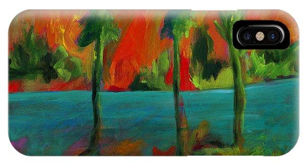 Palm Trio Sunset IPhone Case