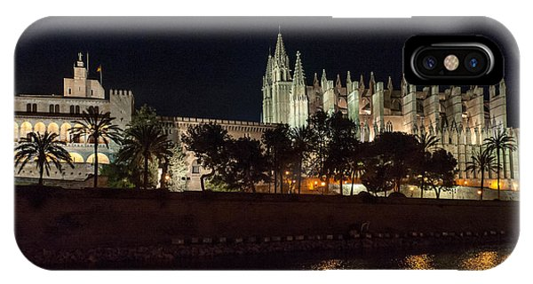 Palma Cathedral Mallorca At Night IPhone Case