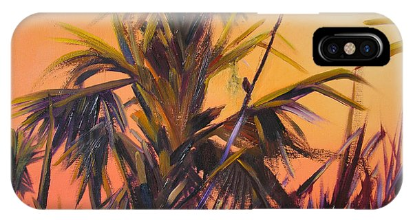 Palmettos At Dusk IPhone Case
