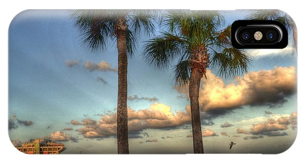 Palms At The Pier IPhone Case