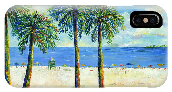 Palms On Siesta Key Beach IPhone Case