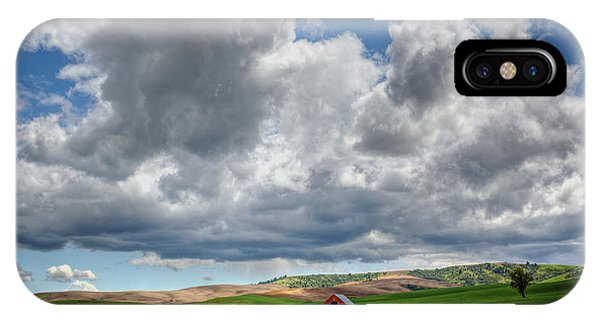 Palouse Country Barn With Storm Clouds IPhone Case