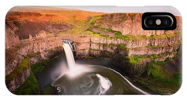 Palouse Falls Sunset Blush IPhone Case
