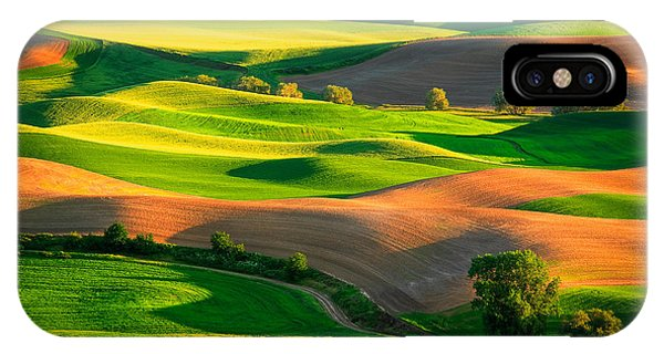 Rural America iPhone Case - Palouse Fields - June by Inge Johnsson