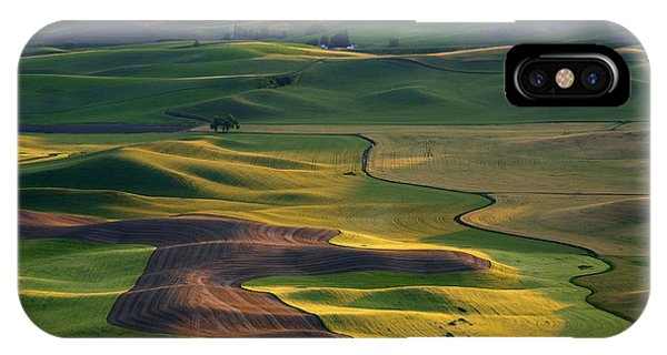 Rural Scenes iPhone Case - Palouse Shadows by Mike  Dawson